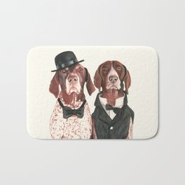 german short hair pointers - F.I.P. @ifitwags (The pointer brothers) Bath Mat