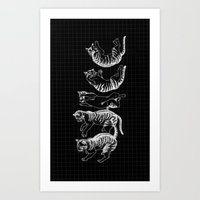 cat righting reflex Art Print