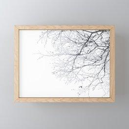 BLACK BRANCHES Framed Mini Art Print