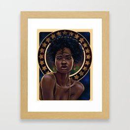 Nouveau  Stars Framed Art Print