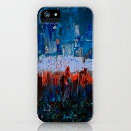 Blue and Orange iPhone Case