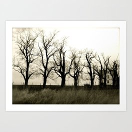 Easter Trees Art Print