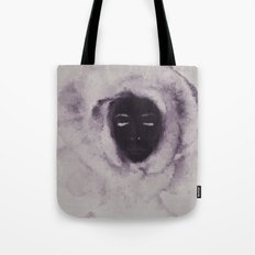 Purple Flower Lady Tote Bag