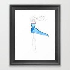 Girlwind Framed Art Print