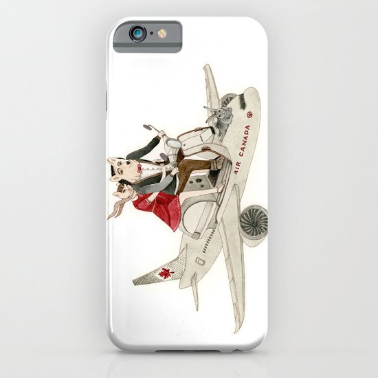 Cat and Wolf hit the road iPhone & iPod Case