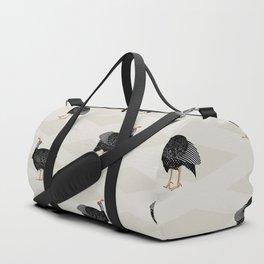 Guinea fowl bird pattern Duffle Bag