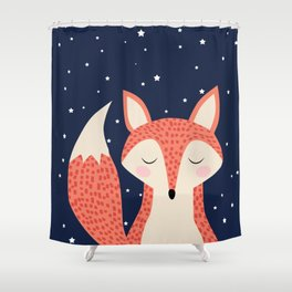 Sleepy Fox Shower Curtain