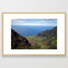 Kauai Mountains Framed Art Print