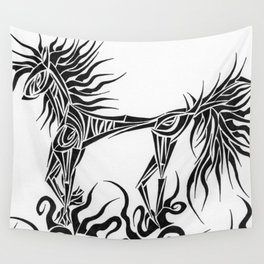 Tribal Horse Wall Tapestry