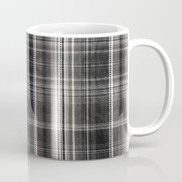 Black white checked cotton cloth textured Coffee Mug