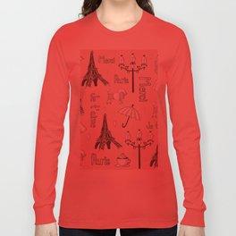 Paris Girl - Pink Long Sleeve T-shirt