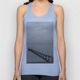 Misty Morning At The Lake Unisex Tank Top