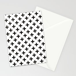 Crosses   Criss Cross   Plus Sign   Hygge   Scandi   Black and White   Stationery Cards