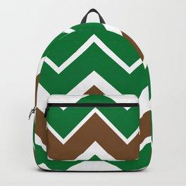 Big Chevron:  Kelly Green + Chocolate Brown Backpack