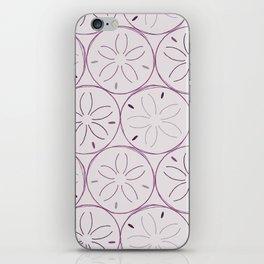 Sanddollar Pattern in Purple iPhone Skin