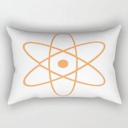 Mid Century Modern Atomic Orange Rectangular Pillow
