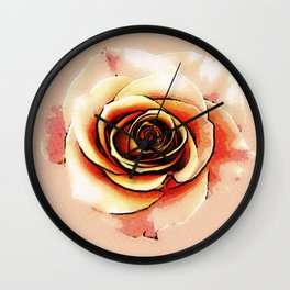 Roses are Pink Wall Clock