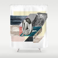 anxiety Shower Curtains featuring Social Anxiety by Lerson