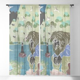 Norwegian giant  Troll 12 Sheer Curtain