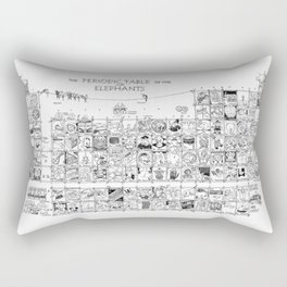 Periodic Table of the Elephants Rectangular Pillow