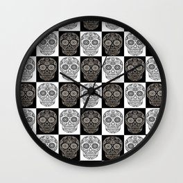 Chess Skull Wall Clock
