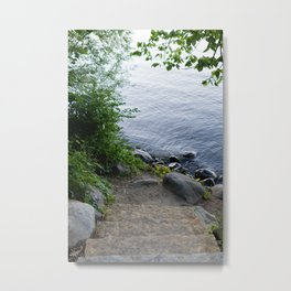 Sunset at the Lakefront Metal Print