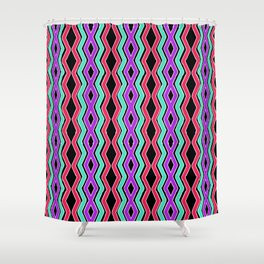 Bright Cheveron Shower Curtain