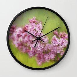 Karen's Lilacs Wall Clock