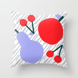 Pear, Apple & Cherries II Throw Pillow