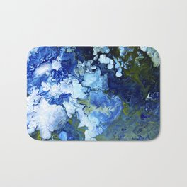 Abstract Nature Acrylic Pour Bath Mat