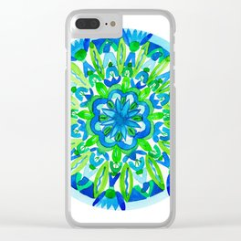 Flourish You Will Mandala Clear iPhone Case