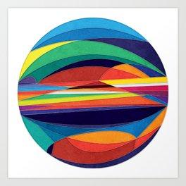 Turn Around Art Print