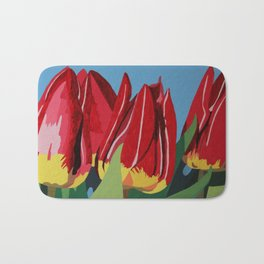 Red & Yellow Tulips Bath Mat