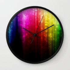 Rainbow Rain. Wall Clock
