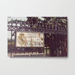 Plaza D'Armas New Orleans French Quarter City Color Photography Metal Print