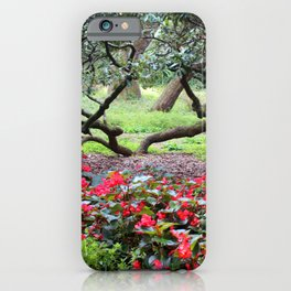 Oak Tree And Flowers iPhone Case