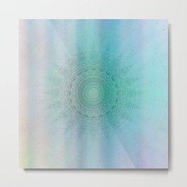 Mandala sensual light Metal Print