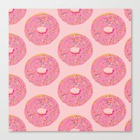 doughnut Canvas Prints featuring Doughnut by Inbeeswax