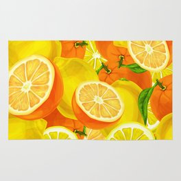 Tropical Fruits Pattern Rug