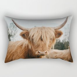 Highland Cow In The Country Rectangular Pillow