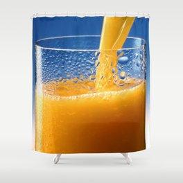 A Glass of Orange Juice Shower Curtain