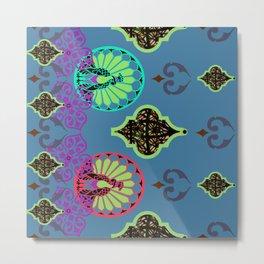 Moroccan Decorative Stripe by Lorloves Design Metal Print