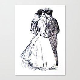 Wedding Kiss Canvas Print