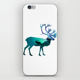 Northern Lights Elk iPhone Skin