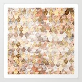 MERMAID GOLD Art Print