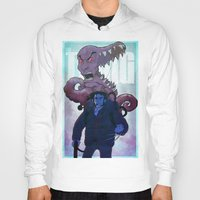 xmen Hoodies featuring Xmen vs The Thing by ashurcollective