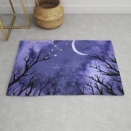 Starry Night and Moon #3 Rug