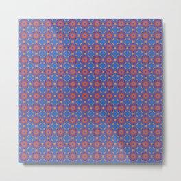 Red flowers Tile pattern Metal Print