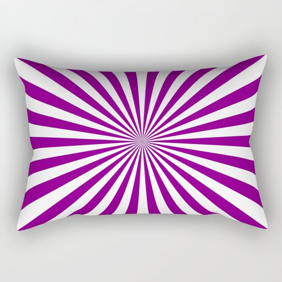 Starburst (Purple/White) Rectangular Pillow