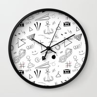 tattoos Wall Clocks featuring HL Tattoos by Stag Nacht